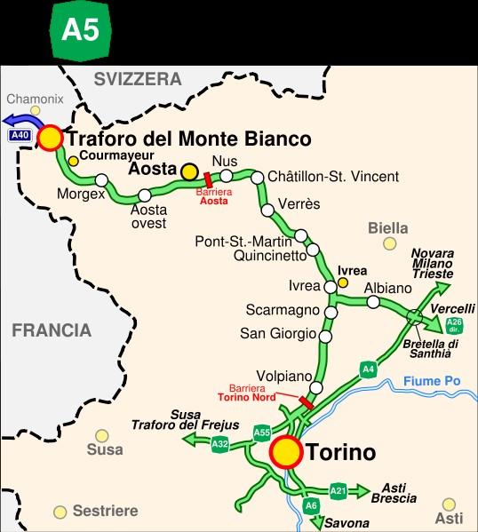 Chamonix Cartina Geografica.Valle D Aosta Informazioni Pratiche