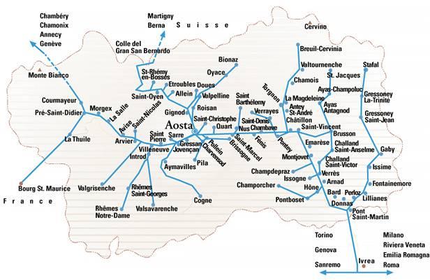 Cartina Valle D Aosta Stradale.Valle D Aosta Informazioni Pratiche
