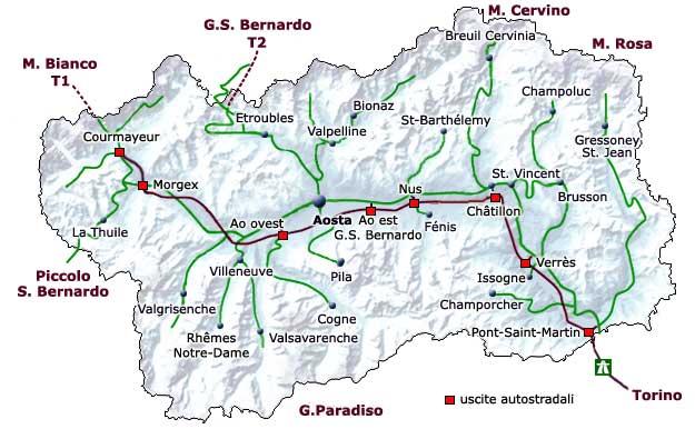 Cartina Fisico Politica Valle D Aosta.Informazioni Sulla Valle D Aosta Geografia Clima Storia
